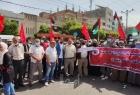 """غزة: وقفة لـ""""الديمقراطية"""" للمطالبة بصرف مخصصات الشؤون الاجتماعية لمستحقيها"""