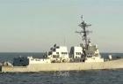 سفينة حربية روسية تطارد مدمرة أمريكية في بحر اليابان - فيديو