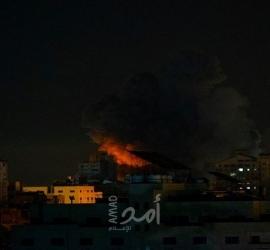 طائرات الاحتلال تستهدف برج الجوهرة وسط قطاع غزة - فيديو وصور