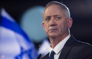 غانتس: لن نتدخل في القرارات السياسية للفلسطينيين ولكن..